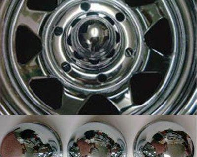 4 Bullet Center Caps Wheels For Dodge Chevy Ford Truck 6 Lug 5x5.5 Lug 4.25 Bor