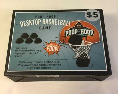 NWT Poop Hoop Desk top basketball game, hysterical gag gift for Father s Day