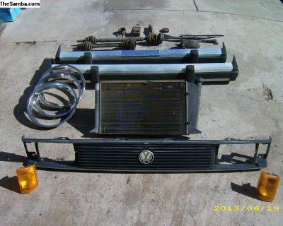 VW Rabbit-Caddy Grill, Lights, Bumper, Motor+Trans