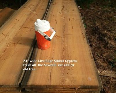 Sinker Cypress Live Edge Slabs.