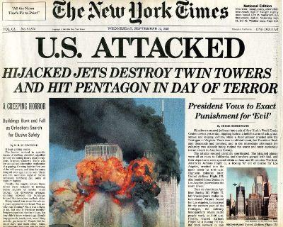 New York Times, September 12, 2001