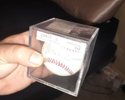 Hank Aaron Autograped Baseball