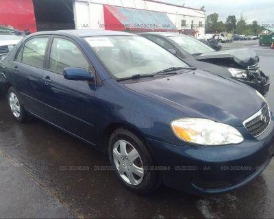 Salvage Blue 2007 Toyota Corolla