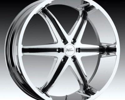 """22"""" Milanni Kool Whip 6 Chrome Wheels Chrysler 300"""