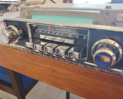 1966 Sapphire III AM 6V Radio - Restored!