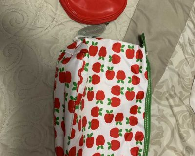 Lot of 2 small apple cosmetic bags NEW