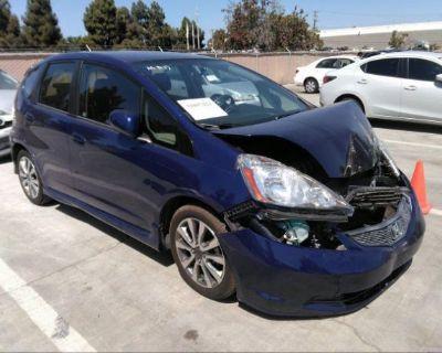 Salvage Blue 2012 Honda Fit