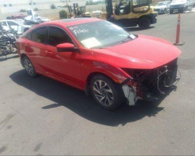 Salvage Red 2018 Honda Civic Sedan