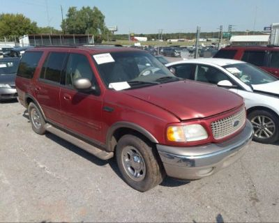 Salvage Red 2002 Ford Expedition