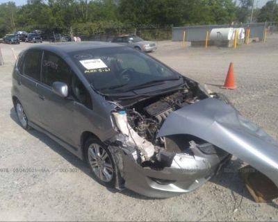 Salvage Gray 2009 Honda Fit