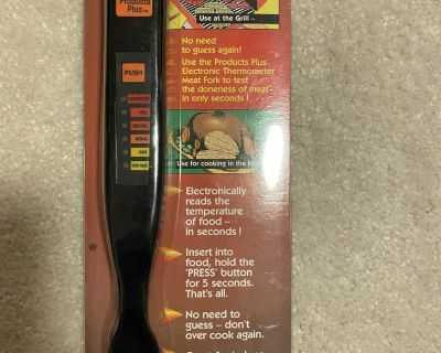 Brand New Electronic Thermometer Meat Fork