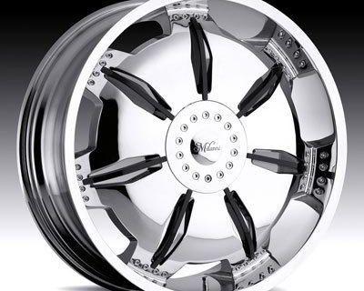 "22""millani 455 Chrome Wheels Infinity Lexus Cadillac"