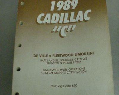 """1989 Cadillac """"c"""" Parts Catalog For De Ville, Fleetwood Limousine: Cat/no 62c"""