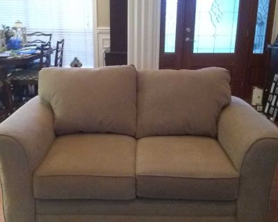 Sofa is like new. Just had professional cleaned. Fabulous condition