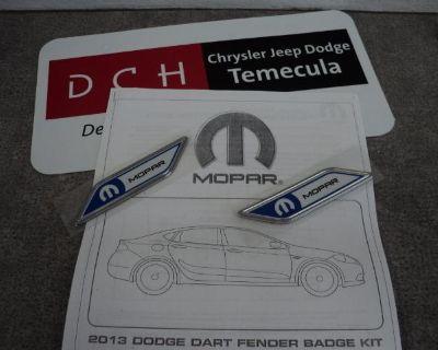 2013 Dch Dodge Dart Mopar Emblem New Logo Oem Nameplate Mopar 82213379