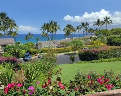 Luxury Vacation Condo w/ large ocean view lanai, updated counters and tile floor - Wailea