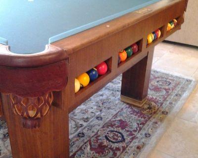1937 Brunswick Antique 20th Century Pool Table