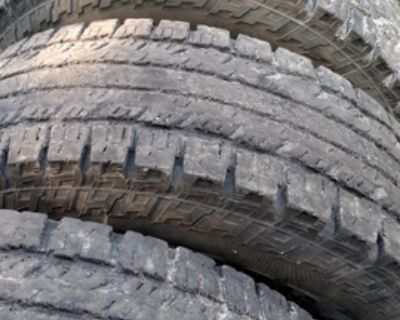 295-70-18 set of Tires 10 ply load E rating
