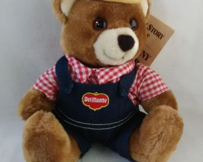 Vintage Del Monte Brawny Bear Stuffed Animal with Tags 1985 - NEW