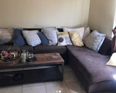 2 Piece Brown Sectional Couch. Like new. **FREE DELIVERY**