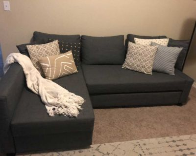 Sectional sofa coverts to bed