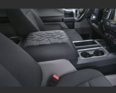 Ford F150 Black Armrest Center Console Lid Cover Tire Tread Armpad