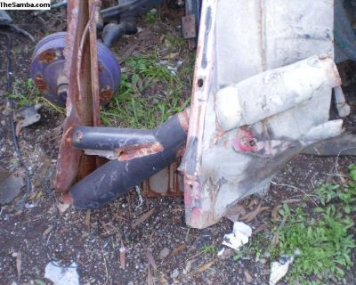 Ghia heater duct T with flapper valve rear seat