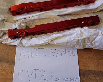 FOR SALE: - Fore Fuel Rails Polished and Anodized Red 03/04 Cobra , Mach 1