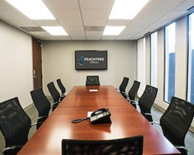 Private Meeting Room for 14 at Peachtree Offices at Downtown, Inc.