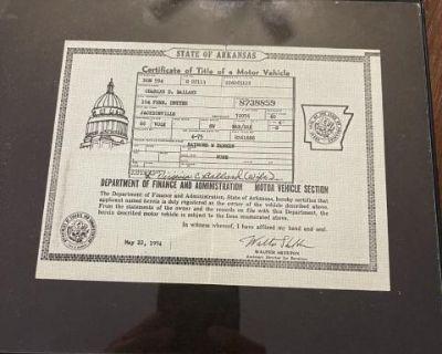 Framed Historical Document 1966 Bus