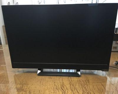 TV Flat screen LED 24 inch wide screen.
