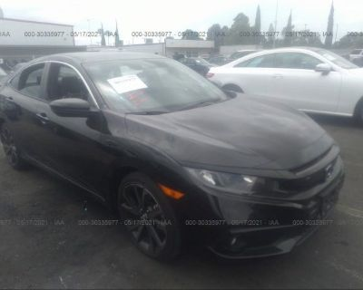 Salvage Black 2019 Honda Civic Sedan