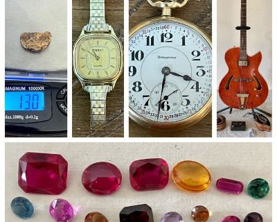 Edgewater Watchmaker & Repair Liquidation Sale, Pocket Watches, Tools, Antiques, Gold, Silver, Gems