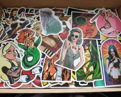 167 assorted stickers