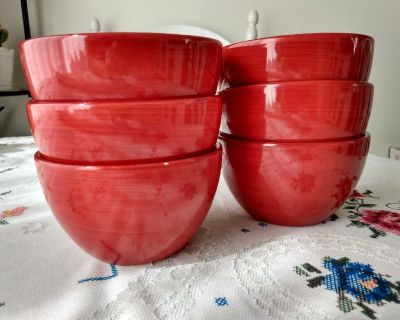 6x4.5 inches bowls (one has tiny chip)