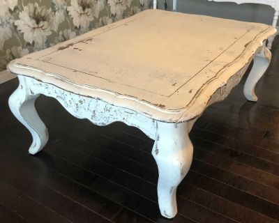Shabby Chic Antique White Coffee Table