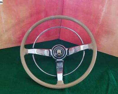 EMPI Steering Wheel with Wolfsbury Gold Horn Cent