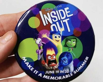 Disney Inside Out movie button from Epcot