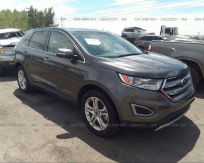 Salvage Gray 2018 Ford Edge