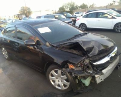 Salvage Black 2010 Honda Civic Sdn