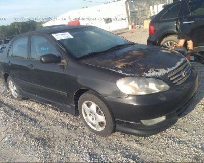 Salvage Black 2004 Toyota Corolla
