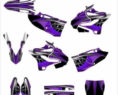2015 2016 Yz125 Yz250 Custom Graphic Decal Sticker Kit #4444 Purple Tribal