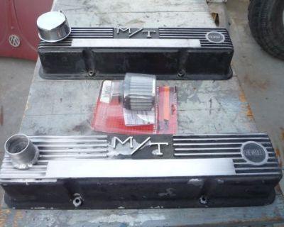 Vintage Mt Sbc Aluminum Valve Covers Chevrolet 327 350 400 Hot Rod Muscle Car