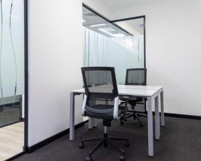Travaillez comme vous l'entendez dans un bureau priv pour deux.