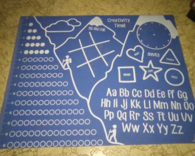 Great for play doh, educational rubber play mat