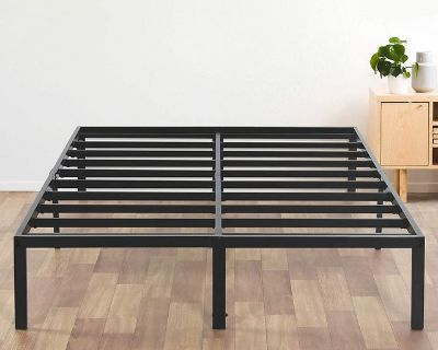 """Queen Size 14"""" Heavy Duty Platform Bed - No Box Spring Needed - New!"""