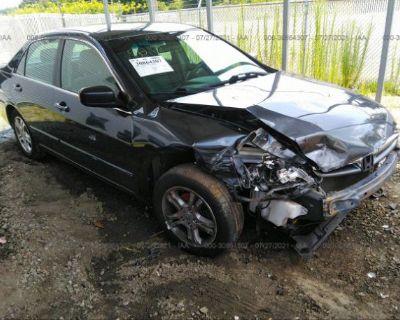 Salvage Gray 2007 Honda Accord Sdn