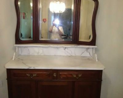 Antique French Mahogany Dresser/Buffet/Sideboard MUST SELL! Moving out of state! X-Posted