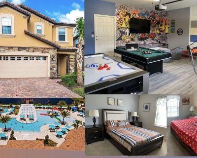 Disney Stay, big house, game room, themed, pool, jacuzzi, lazy rvr, bbq, theatre - Four Corners