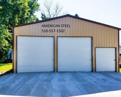AMERICAN STEEL BUILDINGS SHOP'S GARAGE'S RV CAR BOAT COVER'S